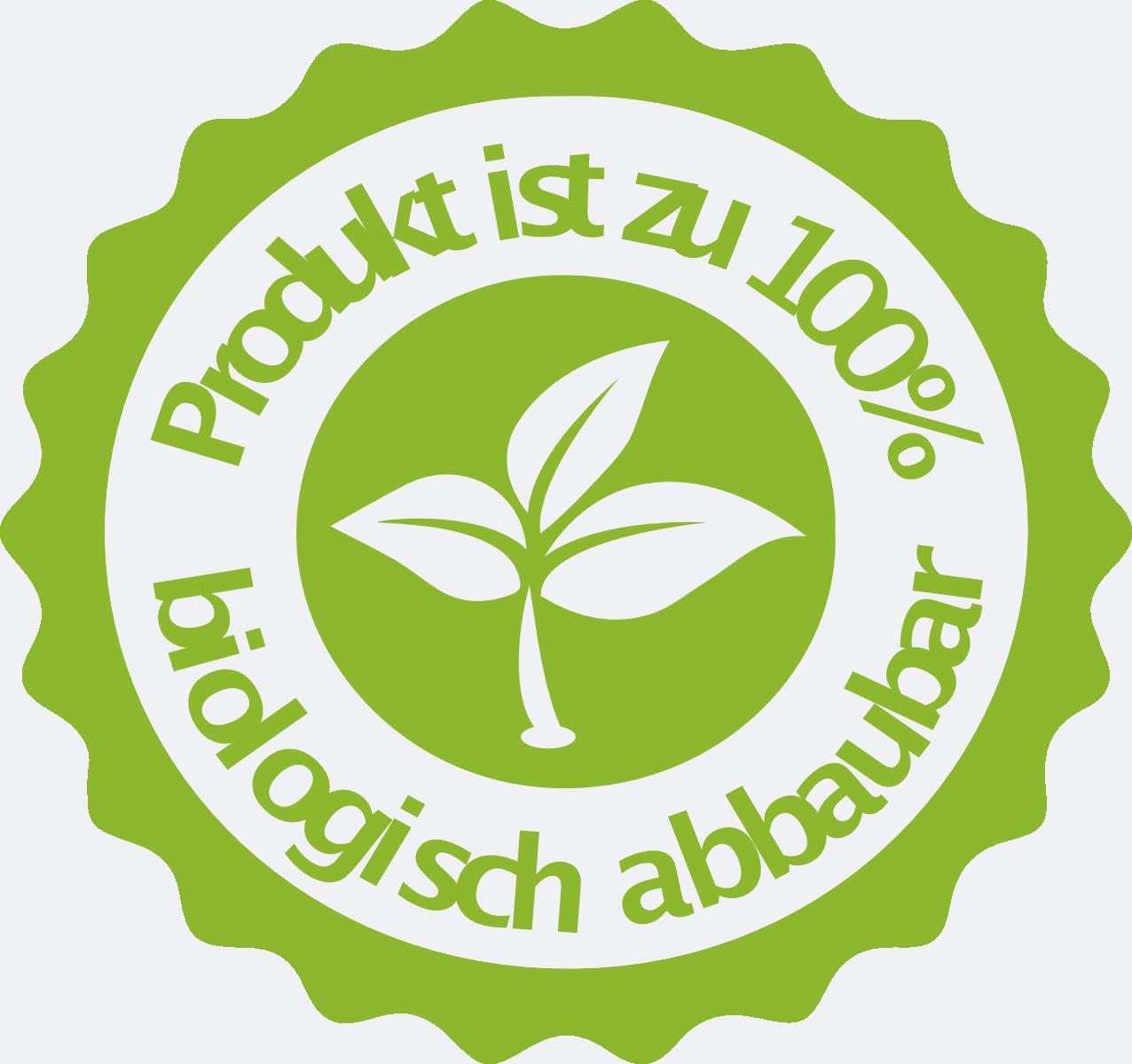 100 % biologisch abbaubar